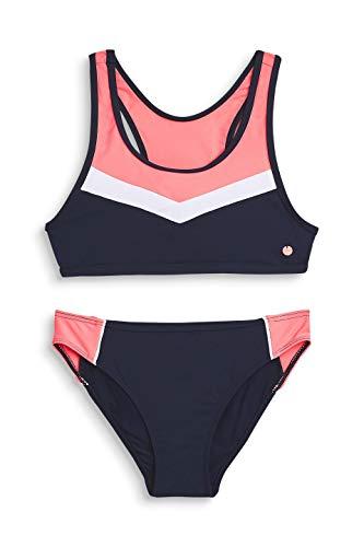 ESPRIT Mädchen Kalani Beach YG Bustier + Brief Badebekleidungsset, Blau (Navy 400), Herstellergröße: 164