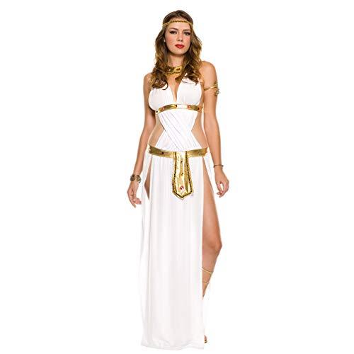 DECJ Griechische Göttin Kostüm, Cosplay Halloween Kostüm Sexy Bühnenkostüm mit verrückter Tanzparty - Griechisch Sexy Kostüm