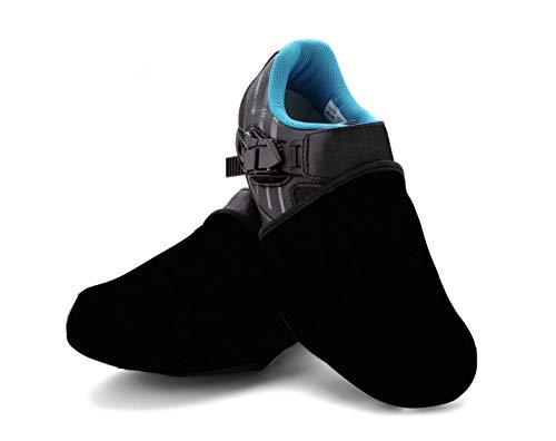 SLS3 Zehenwärmer Überschuhe | Fahrrad Radsport | Wasserdicht Winddicht | Neopren Zehenschutz (Black, S/M)