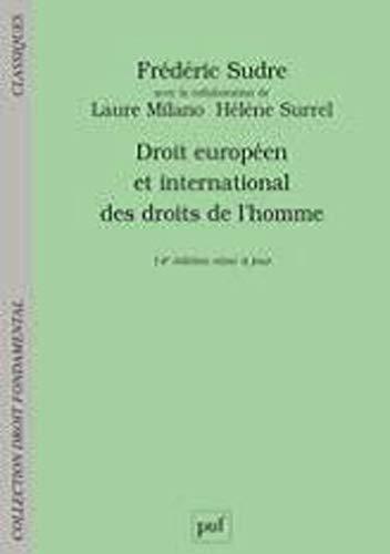 Droit européen et international des droits de l'homme par