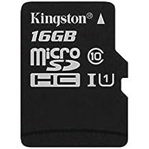 Kingston SDC10G2/16GBSP - Tarjeta microSD de 16GB (clase 10 UHS-I 45MB/s) tarjeta sola