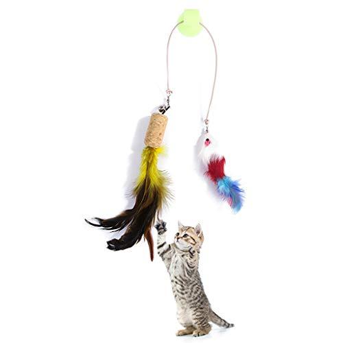 Manyo Juguete para Gato–fausses ratón con Ventosa