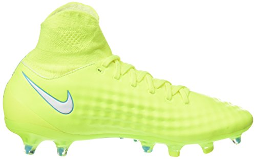 Nike Magista Orden Ii Fg, Scarpe da Calcio Donna Giallo (Volt/white-barely Volt-chlorine Blue)