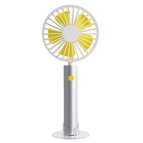 Younthone Tragbarer Handventilator Mini USB Wiederaufladbar Hand Halten Fan Standfeste LüFter 2000mAh Klassisch Sommer Outdoor Ventilator