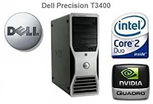 Dell Precision T3400 - Intel Core 2 Duo E8400 3.0GHz - nVidia Quadro 512MB Dual Display Graphics Card - 250GB Hard Drive - 4GB Memory - DVD Writer - Windows 7 Pro (with Genuine Win 7 COA)