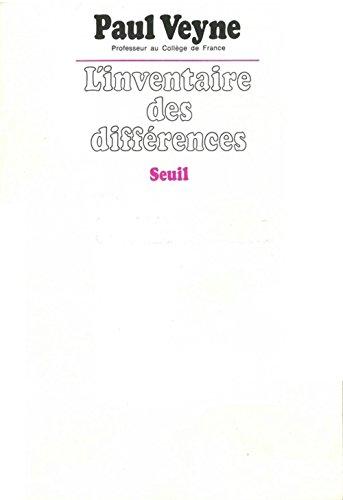 L'inventaire des différences par Paul Veyne