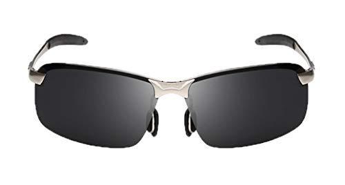 Deaman Männer Sport Brille Half Frame Polarisierte Sonnenbrille Anti UV Eyewear Hochwertige Brille Flacher Spiegelgläser