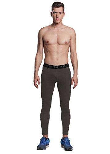 Silvertraq Herren Wicking Sweatpants, Running/Training/Baselayer Fitted Legging Grössen: XS-3X L, Herren, ST-M007O3XL, Olivgrün, XXX-Large -