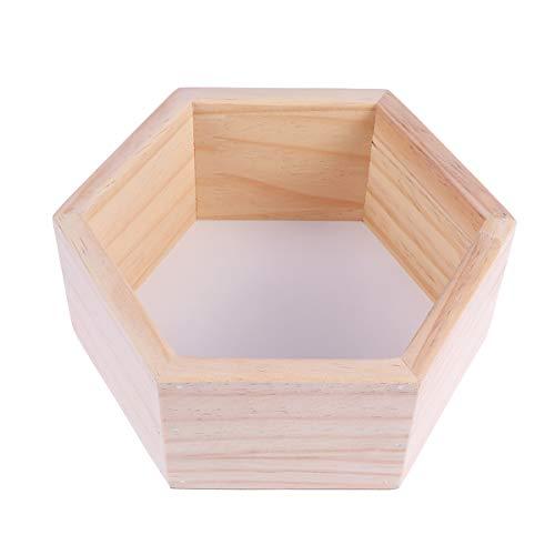 Vosarea Wandmontierte Sechskant-Holzregale aus Holz, schwebendes Regal zur Dekoration von Bekleidungsgeschäft für Kinder oder Kinderzimmer, Größe L (weiß) -