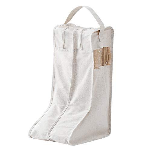Scatola di immagazzinaggio del sacchetto di immagazzinaggio del panno, organizzatore dell'abbigliamento - scarpe da viaggio di tela di cotone naturale delle scarpe da tennis con la chiusura lampo