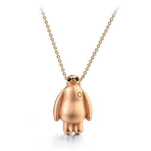 Rose Gold Bitte Disney Big Hero 6baymax Anhänger Halskette Fashion Schmuck für Kinder
