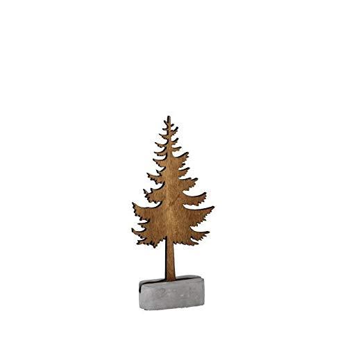 PANDURO Silhouette sapin en Bois - 22 cm