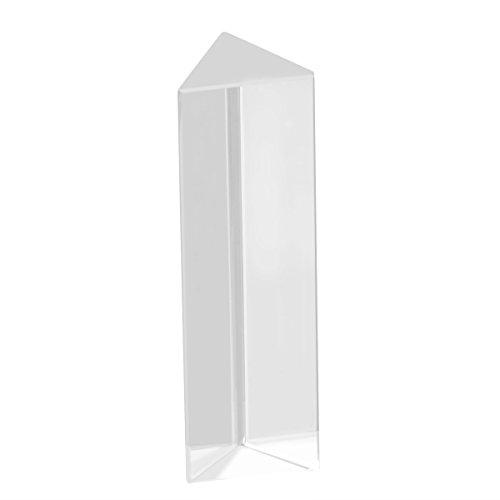 UEETEK 2 Stück Kristall optischen Glas dreieckigen Prisma für Unterricht in Physik Lichtspektrum,10 * 3 * 3 CM hergestellt von UEETEK