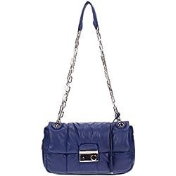 Bolso de Hombro Prada Mujer Piel Blu Tinta B5023LINCHIOSTRO Blu 8x16x25 cmEU