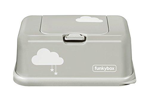 Funkybox Aufbewahrungsbox Grau mit Wolken