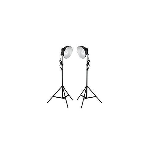 Fotostudio Set mit 2X Stativ + Rundkopflampe