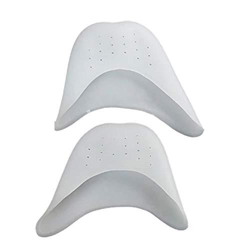 2 Paar Silikon-Stahl-Gel-Zehenkappen für Mittelfußknochen, Faireach Zehenschutz, mit Ballettkissen, für Ballett, Pointe, Tanz, High Heels - Stahl-gelee
