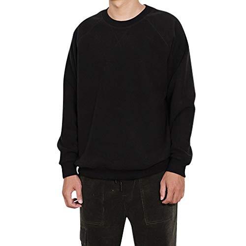 Aoogo Herren Mode Pullover Sport Freizeit warme Einfarbig Slim Fit Langarm Rundhals Buchstabe Sweatshirt T Shirt Bluse