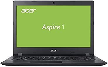Acer Aspire 1 (A114-31-C3RS) 35,6 cm (14 Zoll HD matt) Multimedia Laptop (Intel Celeron N3450, 4 GB RAM, 64 GB eMMC, Intel HD, HDMI, Win 10 im S Modus) schwarz