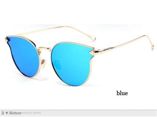 LKVNHP Ladentheken cat EyeSonnenbrille Frauen markendesigner hohe qualitätuv schutzbrillenEIN modifiziertesGesicht Brille wtyj044 blau