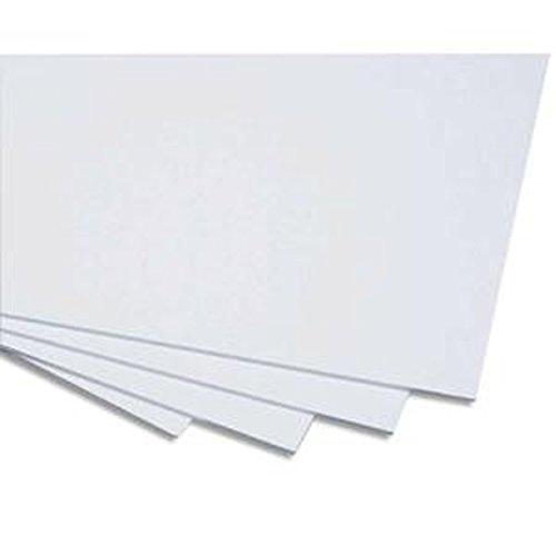 Lot de 5 Cartons mousse blanc 50x65 cm épaisseur 5mm