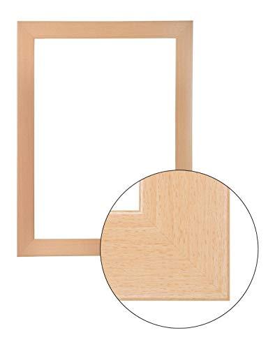 FramoLUXUS 100 cm x 110 cm MDF Holz Bilderrahmen in Farbe Ahorn -