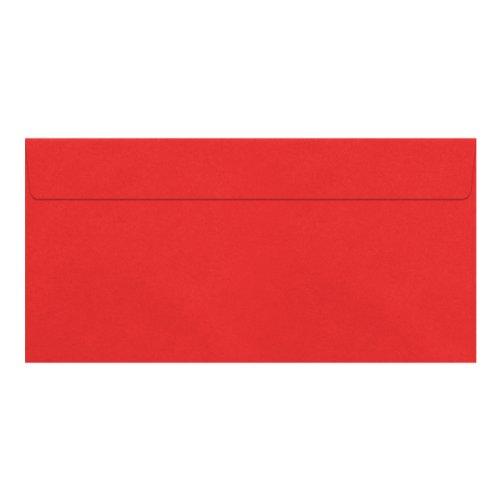 100 Briefumschläge DIN Lang – Rosen-Rot – PREMIUM QUALITÄT – 110 g/m² – 220 x 110 mm – sehr formstabil – Haftklebung – Qualitätsmarke: NEUSER FarbenFroh