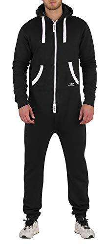 Finchman BO5 Herren Jumpsuit Jogging Anzug Trainingsanzug Overall Schwarz ()
