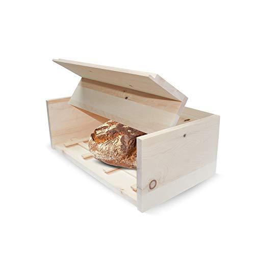 Zirben Brotkistl Brotkasten 45x16x25 cm BxHxT mit herausnehmbarem Zirbenholz-Gitter