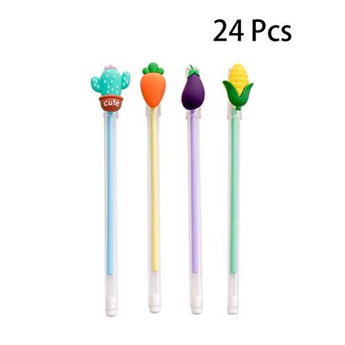 Toyvian Kreativer Gelstift, transparent, für Schreibwaren, niedliches Gemüse, 0,5 mm, volle Nadel, für Schule, Büro, Schreibwaren