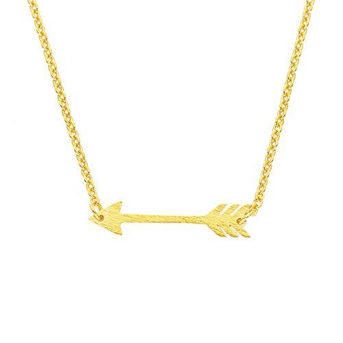 JMZDAW Halskette Anhänger Kleine Bogen Pfeil Anhänger Aus Edelstahl Gold Und Silber-Pfeil Und Bogen Halskette Anhänger Geschenk Weiblichen Schmucksachen, EIN