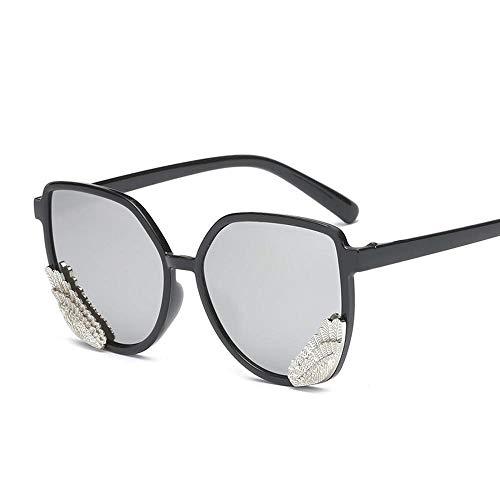 XIAOL Home Mens Sunglasses Women Stylish Wings Sonnenbrillen Männer und Frauen transparent Bunte Gelee Farbe Engelsflügel Sonnenbrille