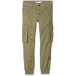 Name It Nitbamgo Reg/r TWI Ca Pant M NMT Noos Pantalon, Vert (Deep Lichen Green Deep Lichen Green), 152 Garçon