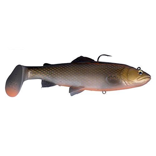 Savage Gear 3D Trout Rattle Shad Gummifische, Farbe:Dirty Roach;Länge / Gewicht /Schwimmverhalten:17cm / 80g / moderate sinkend