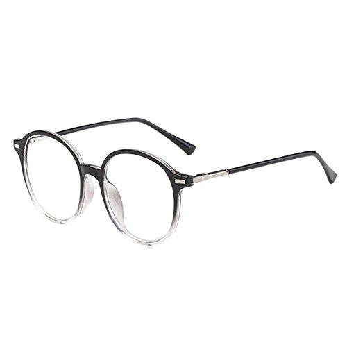 Haodasi Schwarz&Grau Runden Rahmen Kurzsicht Brillen Kurzsichtig Kurzsichtigkeit Myopia Brille CR-39 Harz Linse -1.0~-6.0 mit Brille Box (Diese sind nicht Lesen Brille)
