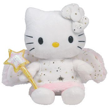 ty-beanie-baby-peluche-hello-kitty-habits-et-baguette-de-fee-18-cm