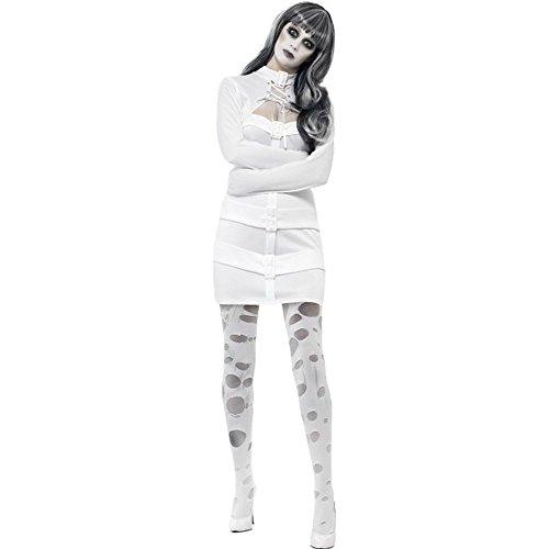 Halloween Damen Kostüm Zombie Psychopathin Zwangsjacke (Halloween Kostüm Zwangsjacke)
