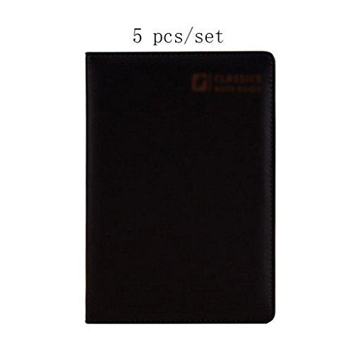 Liu Yu·Bürofläche, Büro Schreibwaren schwarz A5 Notebook verdickt Notebook 5 Stück / Set -