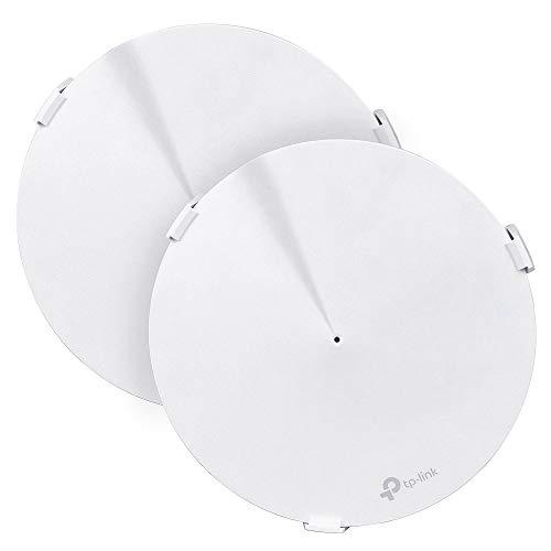 Wandhalterung für TP-Link Deco M9 Plus Whole Home Wi-Fi Router-Schutz, LUXACURY TP-Link Deco M9 Plus WiFi Wandhalterung Halterung Stabile Deckenhalterung Ständer Schutzhülle 2 Pack