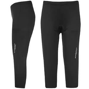 Muddyfox Padded Capri Cycling Tights Ladies Black 12 (M)
