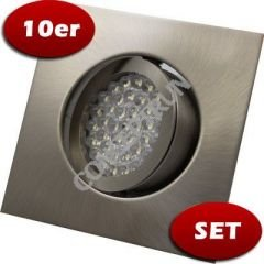 10er-Set LED Einbaustrahler/ Alumunium 14439 eis.geb./ 38er/ 230V/ kaltweiß von www.conceptrun.de