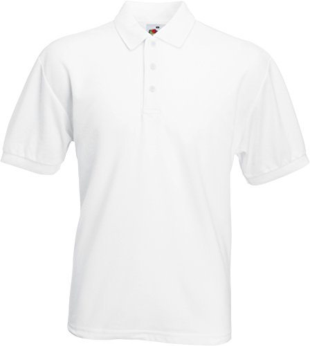 Fruit of the Loom Polo M Weiß