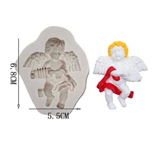 Xizezhen Silikonform für Fondant/Kuchen/Zucker/Schokolade Mk-1263 Organ Angel Light Ash