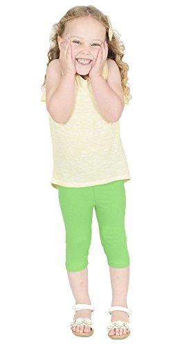 Women's Wardrobe Childrens Kids Cropped 3/4 Cotton Leggings Girls All colours All Sizes