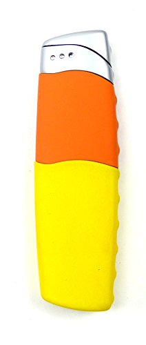 Trendit Edles Designer Feuerzeug Elektro-Gas Zündung SCHWARZ U66-2 (gelb)