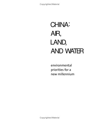 china-air-land-and-water-air-land-and-water-environmental-priorities-for-a-new-millennium