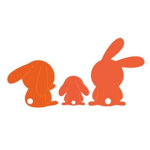 Hase Metall Stanzformen Happy Ostern Bunny Prägung Schablone DIY Scrapbooking Foto Vorlagen für Album Prägung Papier Karten Deko Basteln 3- Cartoon Bunies