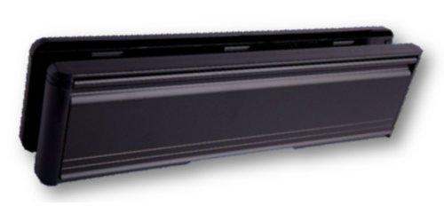25.40 UPVC Briefkasten Briefschlitz Platte cm, schwarz Briefkasten für Türeinwurf, 40-80 mm)