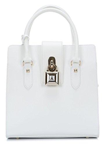 Patrizia Pepe Lock Fly borsa tote pelle 29 cm W146 Bianco