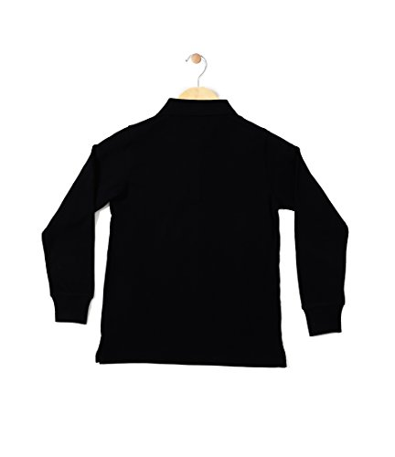 CHIMPRALA Boy's Polo Solid Full Sleeve Neck Collar T-shirt (Black, 30)
